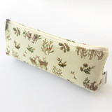 O-CHECK Harmony cotton zipper pencil case pouch