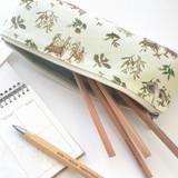 Usage example - O-CHECK Harmony cotton zipper pencil case pouch