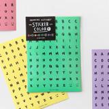 2NUL Drawing alphabet color sticker set