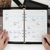 Usage example - 2NUL Editor pick 6-ring planner monthly plan refill