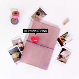 Twinkle pink - Jam Studio Moa Moa slip in pocket photo name card album