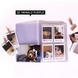 Twinkle purple - Jam Studio Moa Moa slip in pocket photo name card album