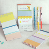Usage example - Oh-ssumthing O-ssum memo notepad 918 with the perforated line
