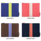Color - Monopoly Air mesh large plain zipper pouch bag