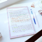 Usage example - Oh-ssumthing O-ssum B5 size grid memo notes notepad
