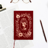 Anne small hardcover undated monthly planner notebook