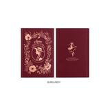 Burgundy - Anne medium hardcover undated monthly planner notebook