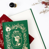 Anne large hardcover undated monthly planner notebook