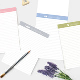Bookfriends World literature lined notepad 50 sheets
