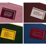 lettering logo - Bookfriends World literature lettering cotton zip pouch