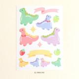 Brachio - PLEPLE Bubble dino removable decorative paper sticker