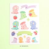 Triceratops - PLEPLE Bubble dino removable decorative paper sticker