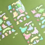 PLEPLE Bubble dino removable decorative paper sticker