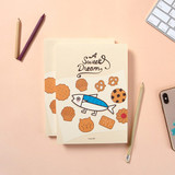 Perforated lineDESIGN IVY Ggo deung o drawing blank notebook notepad ver2