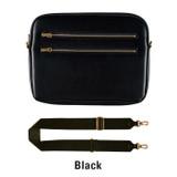 Black - Always with me iPad tablet PC sleeve case cross bag