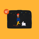 13 inches laptop sleeve - Moonwalker boucle canvas iPad laptop sleeve pouch case