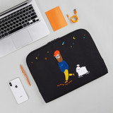 Usage example - Moonwalker boucle canvas iPad laptop sleeve pouch case