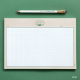 Beige - ICONIC Buddy B5 size grid notes memo notepad