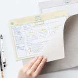 Usage example - ICONIC Buddy B5 size grid notes memo notepad