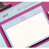 Blue - ICONIC Buddy B5 size grid notes memo notepad