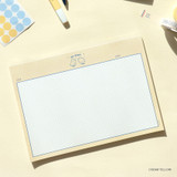 Cream Yellow - ICONIC Buddy B5 size grid notes memo notepad