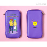Happy Together - Ardium Colorpoint flat zip pencil case pouch