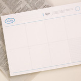 NACOO Blue A4 size dateless desk weekly planner scheduler