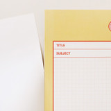 Tear off - Annyang B5 size lined and grid notes memo notepad