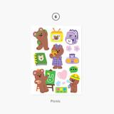 06 Picnic - Project basic my juicy bear removable sticker