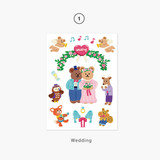 01 Wedding - Project daily life my juicy bear removable sticker