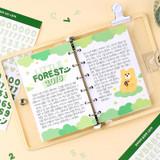 Usage example - Alphabet upper case craft decoration sticker 10 colors set
