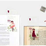 Usage example - Bookfriends Anne of Green Gables clear bookmark