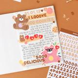 Usage example - Alphabet upper case letter craft decoration sticker
