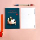 05 - Design Comma-B Analog and modern illustration postcard II