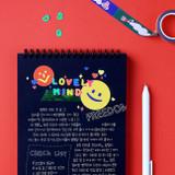Usage example - Neon Alphabet upper case letter craft decoration sticker