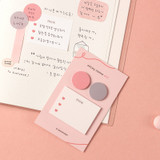 Cherry pink - Dash and Dot And dots memo notes sticky notepad ver3