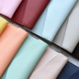 10 Colors - Play Obje Classy synthetic leather wallet pencil case