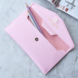 Pink - Play Obje Classy synthetic leather wallet pencil case