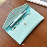 Mint - Play Obje Classy synthetic leather wallet pencil case