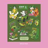 Vintage Green - Ardium Pop illustration colorful point paper sticker ver4