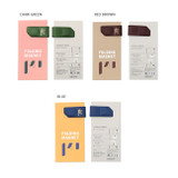 Color - Multi purpose synthetic leather folding magnet organizer