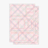2 sheets - PLEPLE Check paper deco sticker set