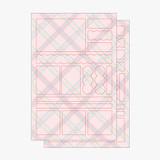 2 sheets - PLEPLE Check paper deco sticker set