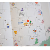 Usage example - Dailylike Jeju removable paper diary deco sticker seal