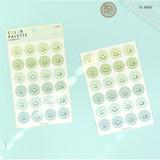 01 Mint - PAPERIAN Color palette Smile deco sticker set