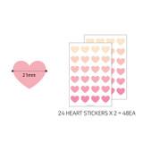 Size - PAPERIAN Color palette Heart deco sticker set