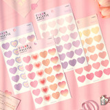 PAPERIAN Color palette Heart deco sticker set