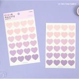 03 Two tone Purple - PAPERIAN Color palette Heart deco sticker set