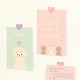 Usage example -PAPERIAN Color palette Heart deco sticker set