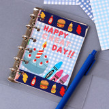 Usage example - Wanna This Picnic 3mm check 4 designs memo notes notepad